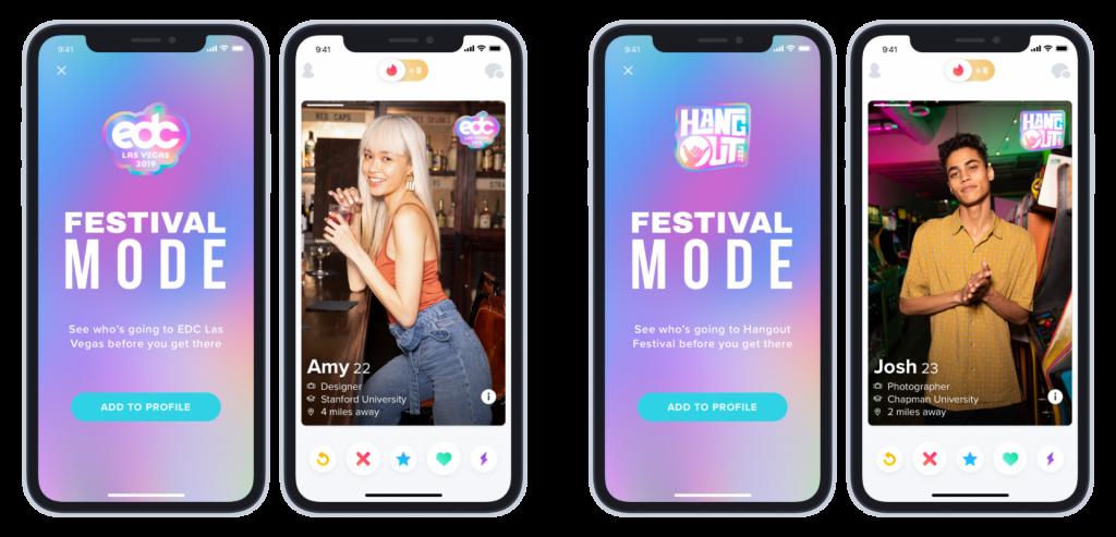 Tinder přichází s režimem pro návštěvníky festivalů