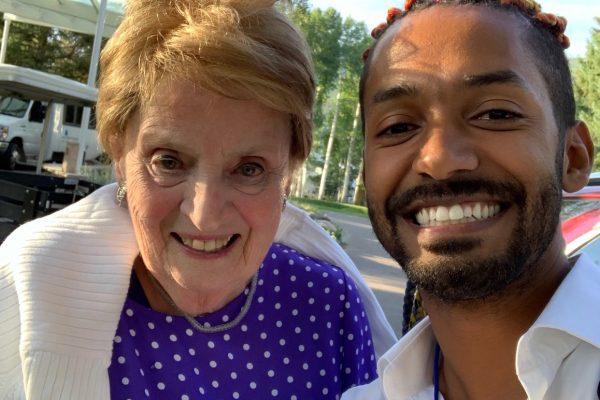 Yemi a Madeleine Albright