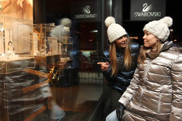 nakupování v Livignu