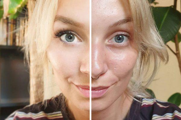 po a před
